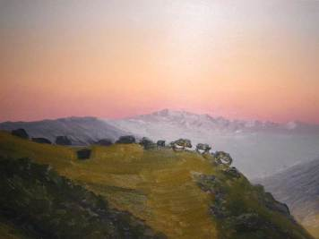 santa barbara landscape sunset