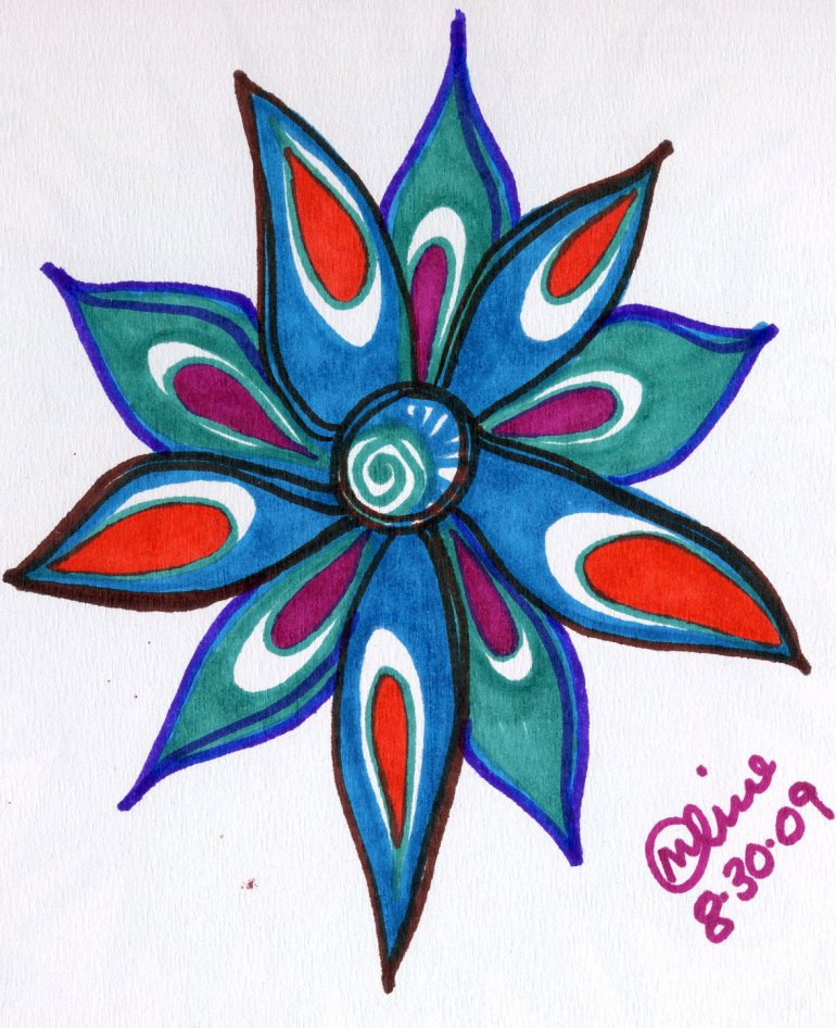 Blue flower - Sketch