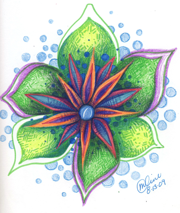 Soft Flower Drawing