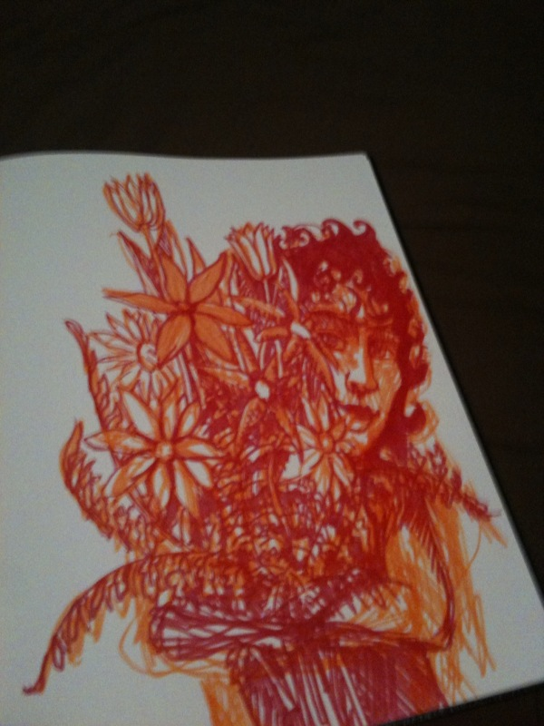 Sketch - 1st photo (Orange and Red)