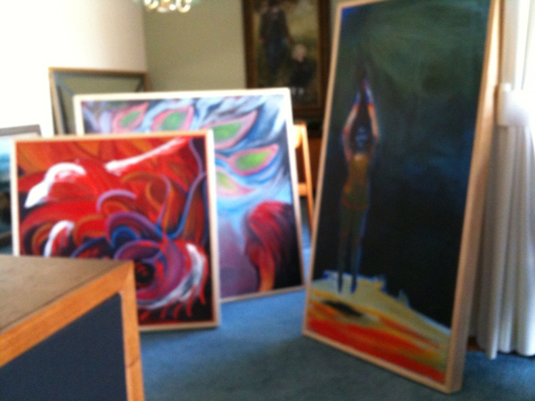 These paintings still need to find a home...