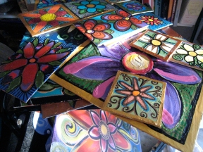 So many flower paintings...
