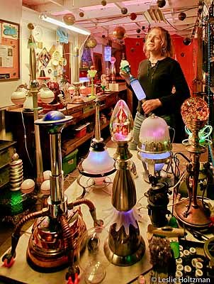 Jamie McConnell in her Studio.