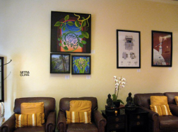My art on the wall at Michelle Wilders