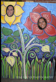 Photo Booth Mural at Lucidity Festival