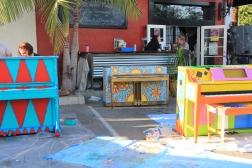 Painted Piano for Santa Barbara Bowl