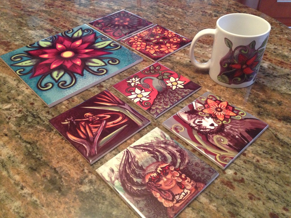 Ceramic Sublimation Prints by Mitra Cline