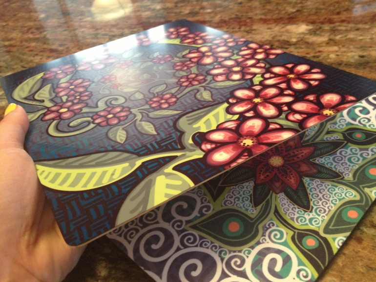 Mitra Cline Metal Flower Print