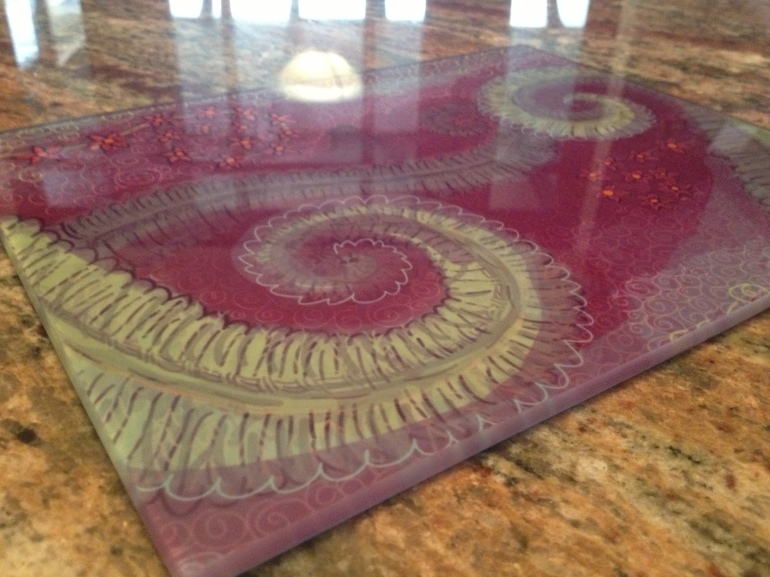 Glass Cutting Board Sublimation Print by Mitra Cline