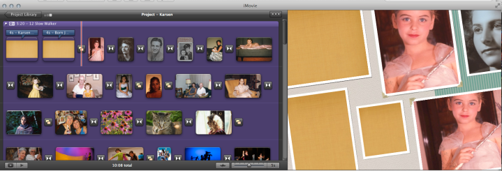 Screen Shot from iMovie