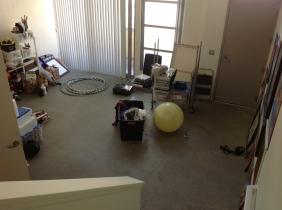 Studio day 1 - Moving in