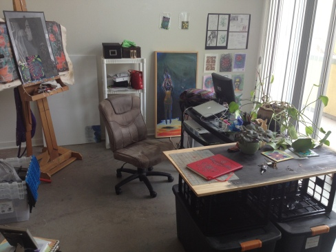 My desk / painting work area :)