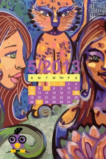 iPhone 640x960 Desktop Calendar