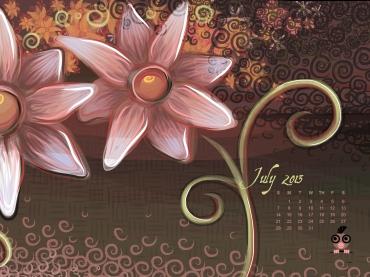July 2013 Calendar for iPad 2048x1536