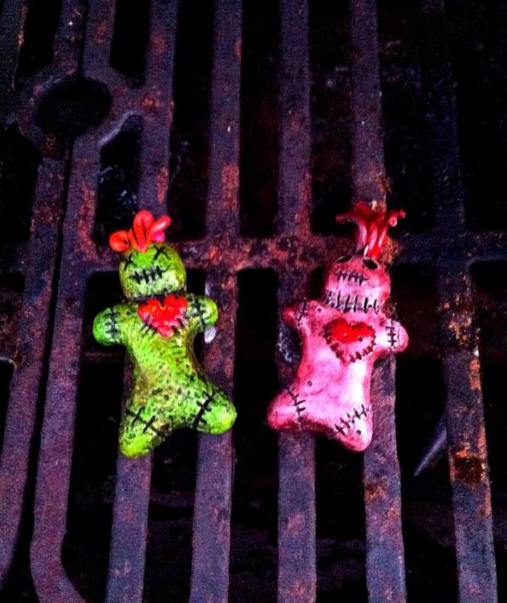 Final painted voodoo baby dolls