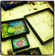 Paint and add art to frames