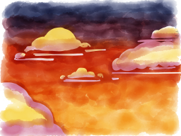 Paper drawing of clouds 1