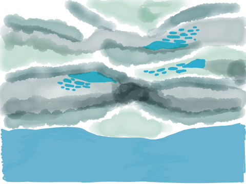 Paper drawing of clouds 3
