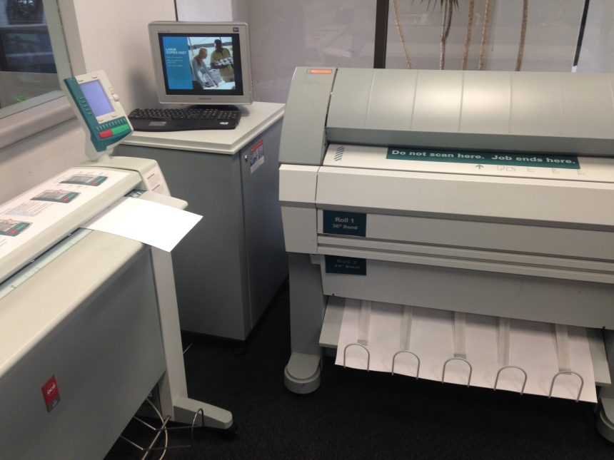Large scale scanner and printer.
