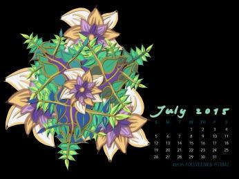 July2015FlowerCalendarMitraCline2