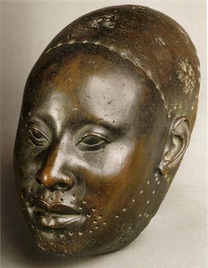 Yoruba Copper mask for King Obalufon, Ife, Nigeria c. 1300 C.E.