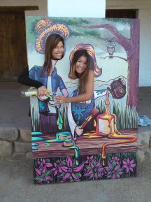 alice and wonderland photo booth painting
