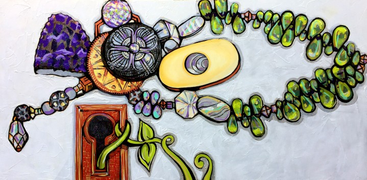 Everyday Gems 24x28 mixed media on canvas