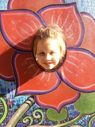 flower photo booth painting