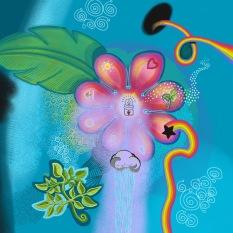 rainbow flower couple