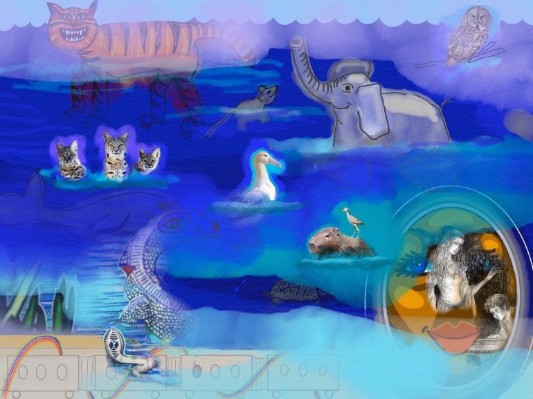 animals in ocean dream