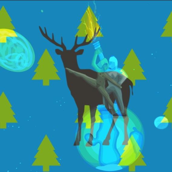 deer dancing on earth
