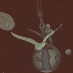 bird dancing on earth