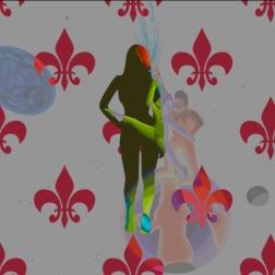 green girl dancing on earth