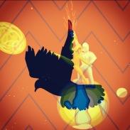 bird over earth dancing couple