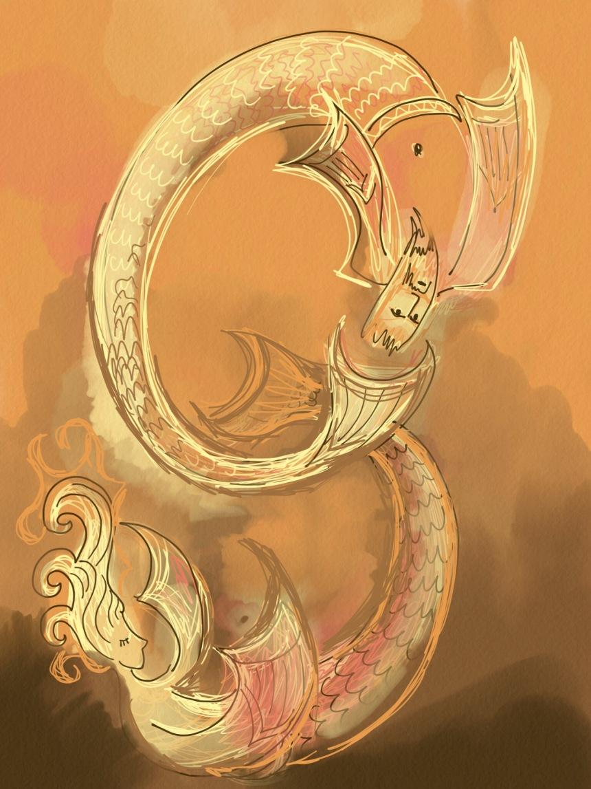 s mermaid letter