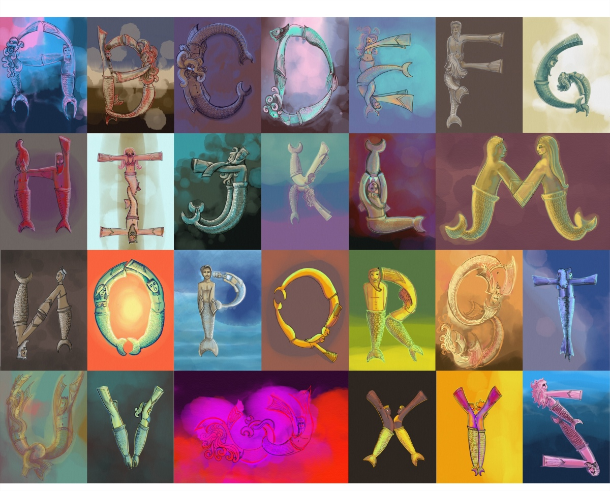 Mermaid Alphabet