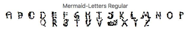 mermaid love letters glyph