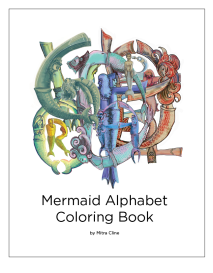 mermaid love letters coloring book