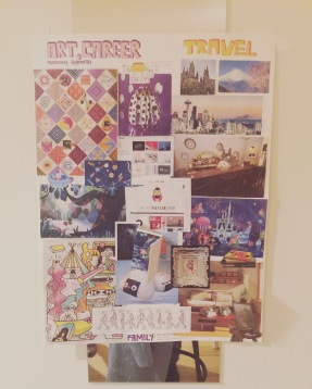 vision board collage