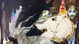 unicorn mixed media collage