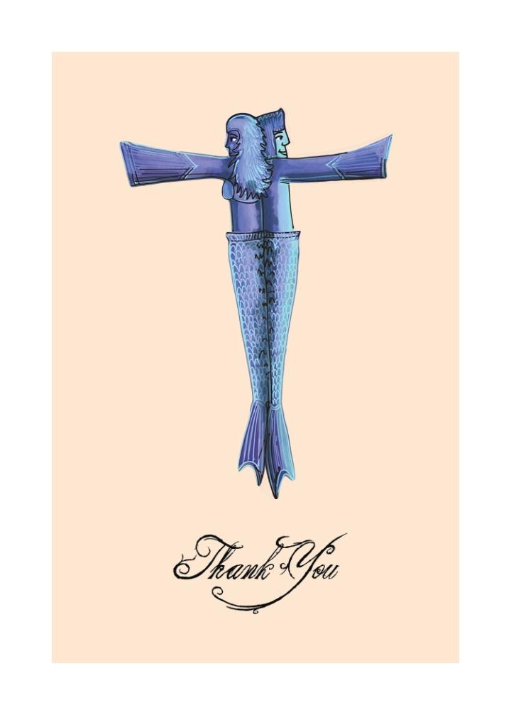 Mermaid Love Letter Greeting Cards