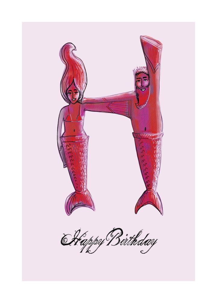 Mermaid Love Letter Greeting Cards2