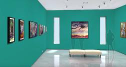 "Virtual Reality Art Gallery ""Secret Garden"""