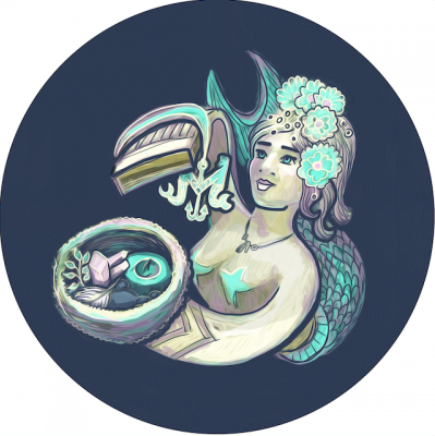 mermaid love letter girl