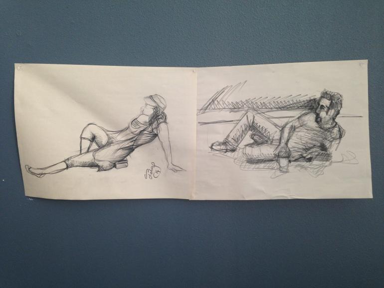 charcoal figure drawings