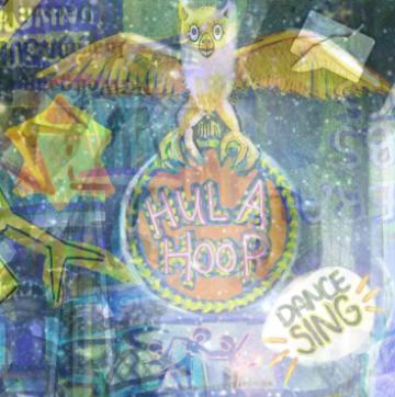 hula hoops digital collage
