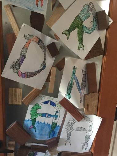 mermaid letters coloring book