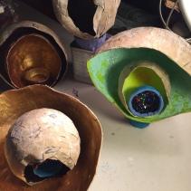 Papier-mâché bowl art