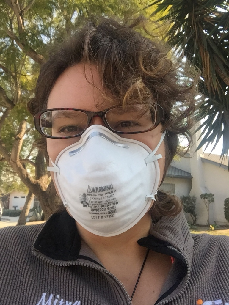 photo of mitra in air mask