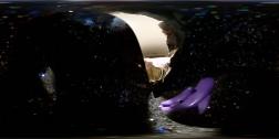 360 photo of black glitter